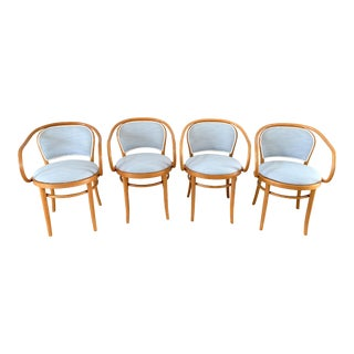 Vintage Thonet Bentwood Dining Chairs, Set of 4 For Sale