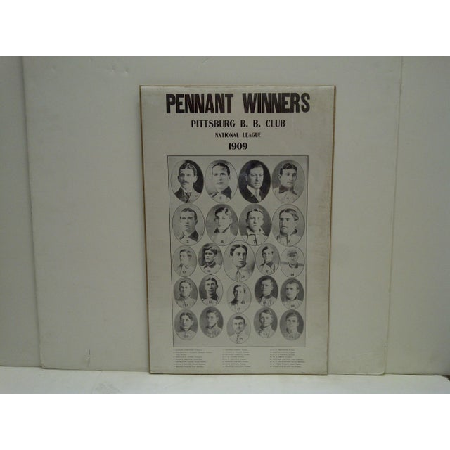 """Pennant Winners"" -- Pittsburg Baseball Club -- National League -- 1909 Poster (Reprint) -- The Poster Is Shrink-Wrapped..."
