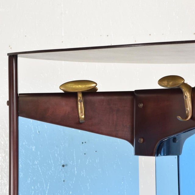 Brass Mid-Century Modern Italian Coat Rack Room Divider After Ico Parisi For Sale - Image 7 of 9
