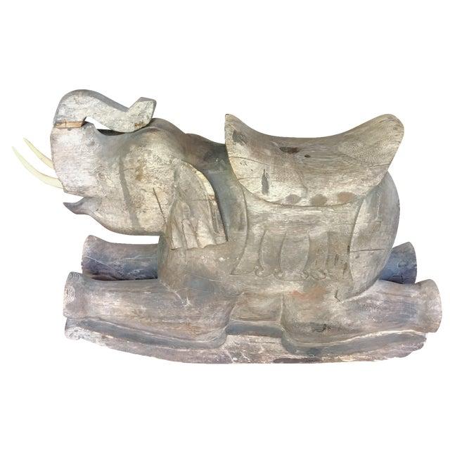 Thai Wood Elephant - Image 1 of 3