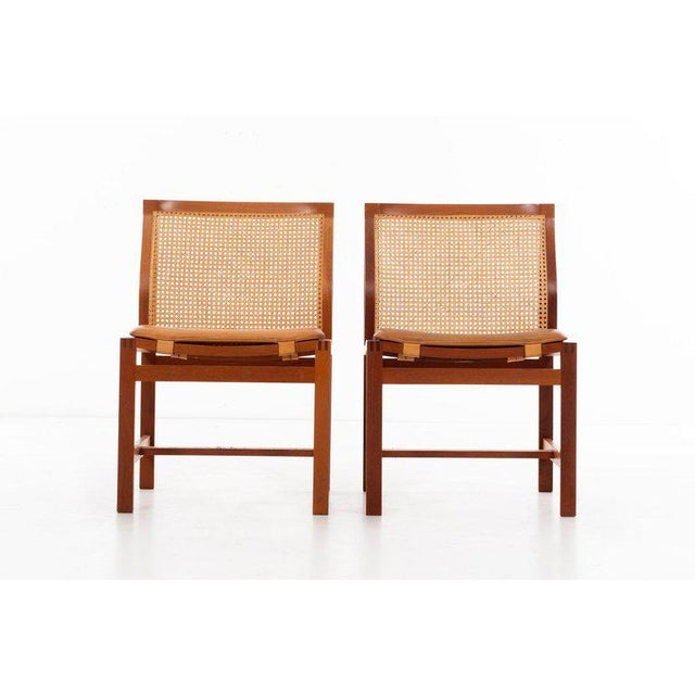 Danish Modern Rud Thygesen & Johnny Sorensen Set of 8 Dining Chairs For Sale - Image 3 of 13