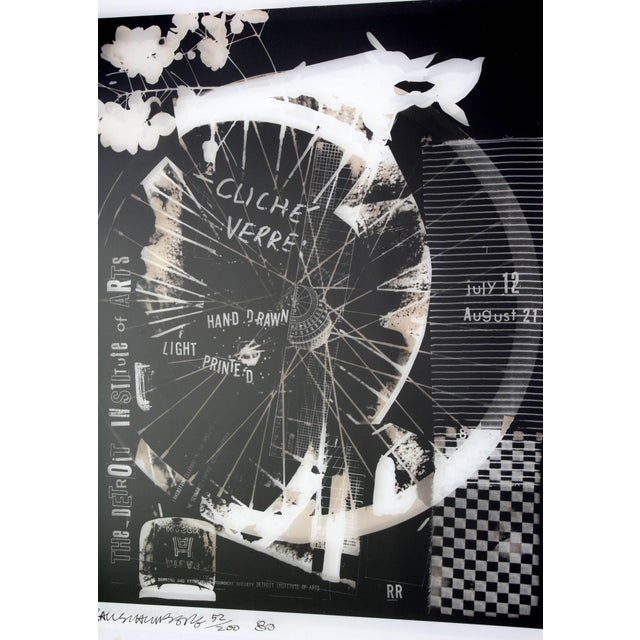 Robert Rauschenberg Mid-Century Modern Robert Rauschenberg Signed Photolithograph, 1980 52/200 For Sale - Image 4 of 9