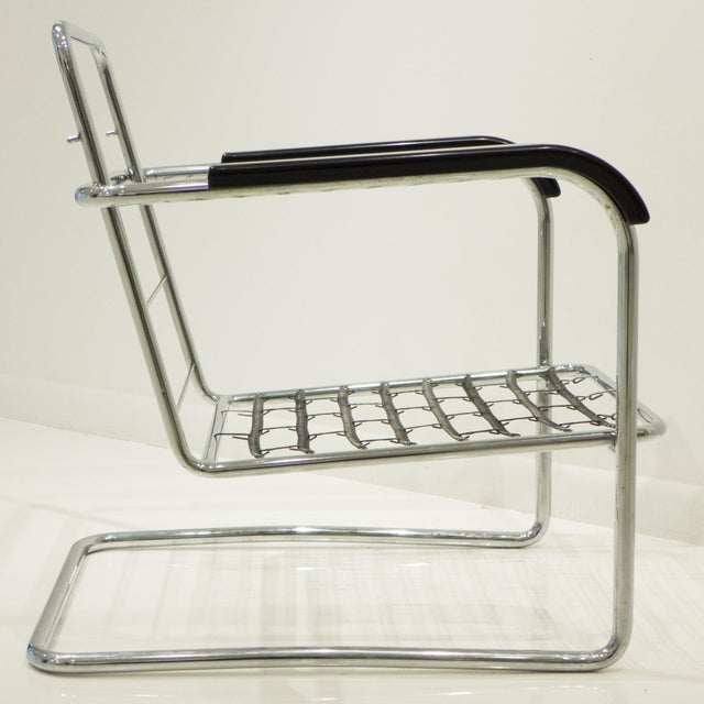 Werner Max Moser Tubular Steel Armchair for Embru Werke - Image 7 of 11