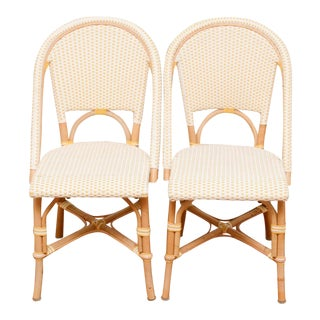 Boho Chic Bamboo Side Chairs - a Pair For Sale