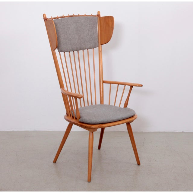 Albert Haberer Wingback Armchair, Germany, 1950 For Sale - Image 10 of 10
