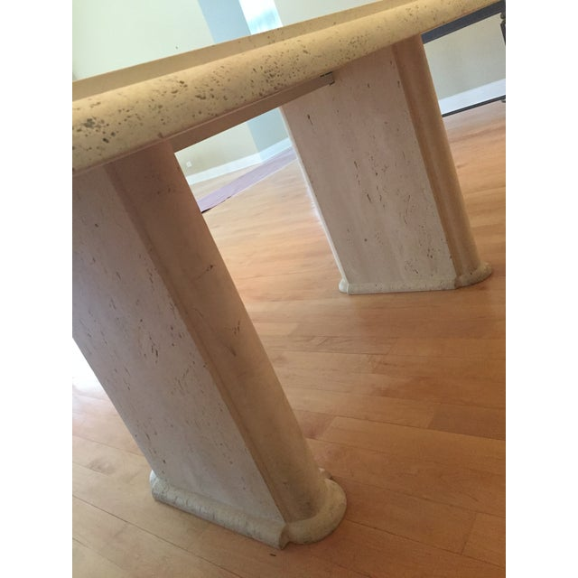 Solid Travertine Dining Table - Perfect and Incredible - Image 5 of 11