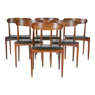 Danish Rosewood Dining Chairs, Set of 6