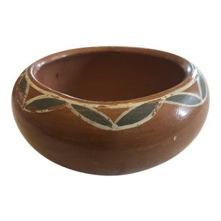 Mid 20th Century Handmade Decorative Earthy Rust/Red Bowl For Sale