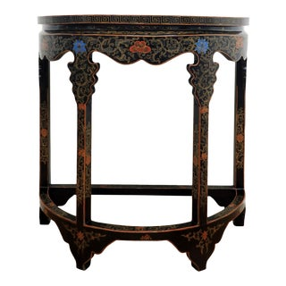 Chinoiserie Demi-Lune Console Table For Sale