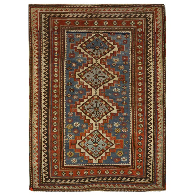 Antique Kazak Rug - 5 x 6.10 For Sale