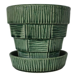 1960s Vintage McCoy Green Planter For Sale