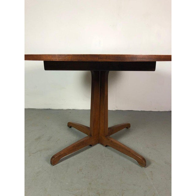 Brown Early One of a Kind George Nakashima Dining Set With Six Captain Chairs Usa 1966 For Sale - Image 8 of 12