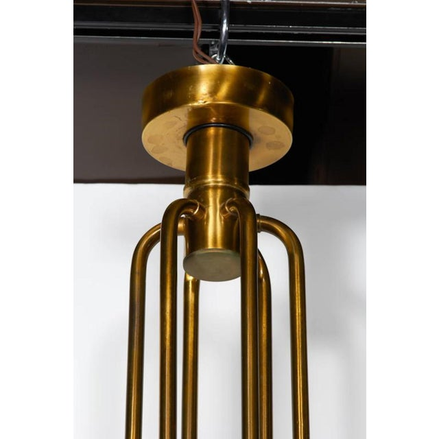 1960s Mid Century Modern Brass 12-Lights Chandelier by Gaetano Sciolari, 1960s For Sale - Image 5 of 6