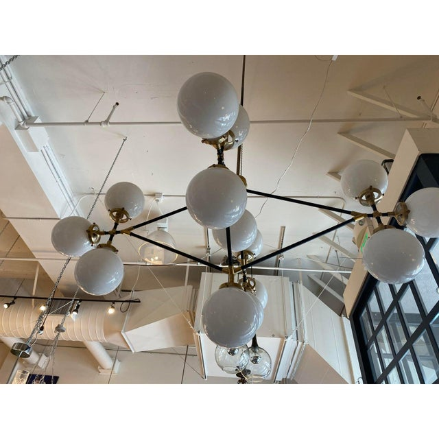 2010s Visual Comfort Ian K. Fowler Bistro Four Arm Chandelier For Sale - Image 5 of 11