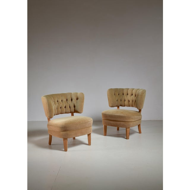 Otto Schulz Pair of Lounge Chairs by Jio Möbler, Sweden, 1940s - Image 4 of 4
