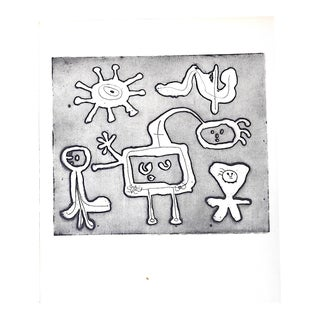 Vintage Abstract Joan Miro Lithograph For Sale