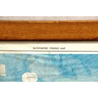 Bathymetric Framed Massachusetts Fishing Map Preview