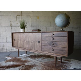 Mid Century Modern Styled Walnut Credenza Media Stand Preview