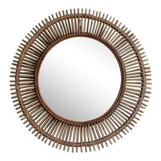 Oculus' Round Rattan Mirror by Design Frères