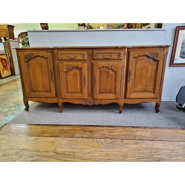 20th Century French Parquet Top Buffet/Sideboard For Sale - Image 4 of 12