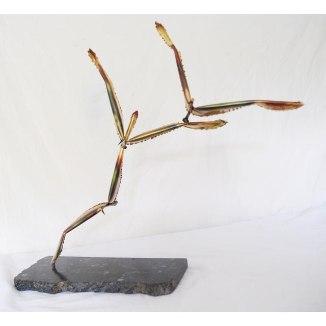 Vintage Metal Seagulls in Flight Table Sculpture For Sale - Image 5 of 6