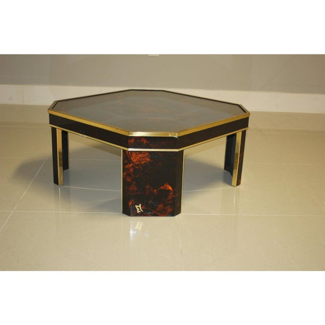 1970s French Mid-Century Modern Coffee Table by ''Sign Jean Claude Mahey '' For Sale - Image 13 of 13