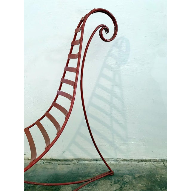 Iron Spine Chair Attributed to Andre Dubreuil For Sale - Image 4 of 11