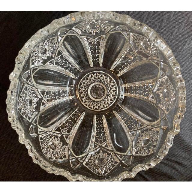 Bohemia Hand Cut Crystal Czech Bohemian Glass Bowl For Sale - Image 4 of 7