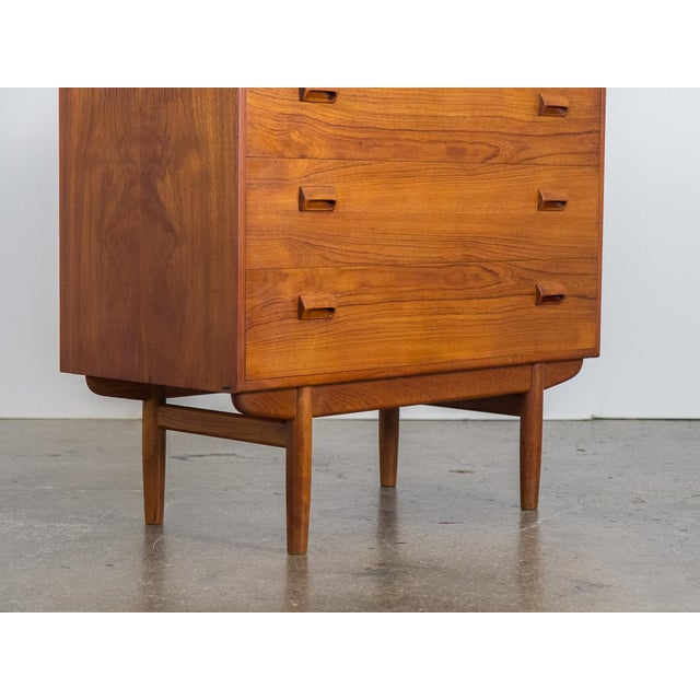 Wood Børge Mogensen Teak Vanity with Fold Out Mirror For Sale - Image 7 of 11