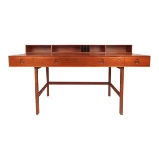 Beautiful Mid-Century Modern Teak Flip-Top Desk by Jens Quistgaard For Sale