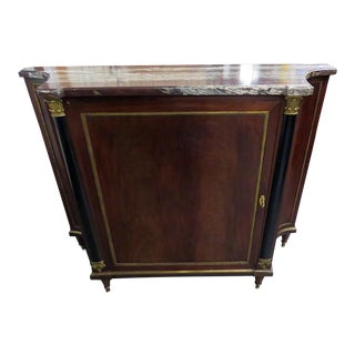 Directoire Style Marble Top Cabinet Attr Forest For Sale