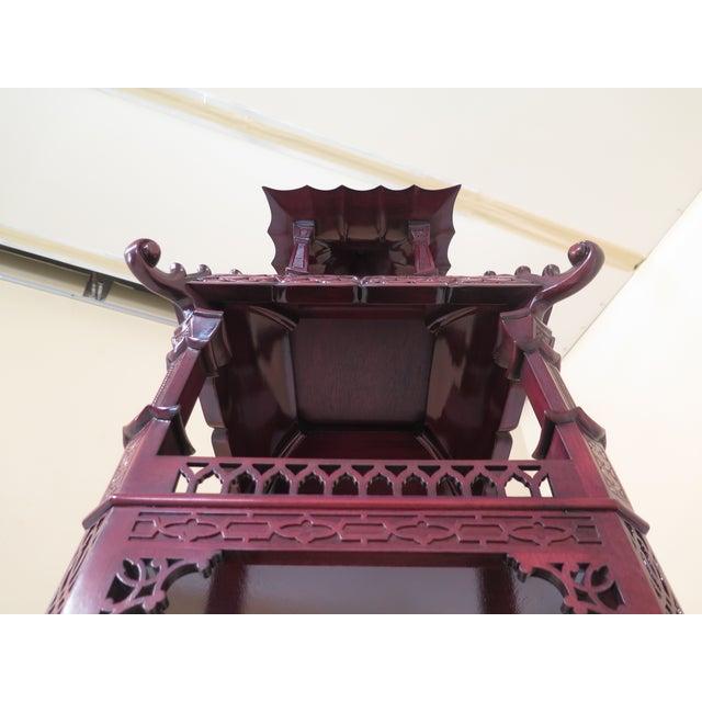Wood Kindel Mahogany Pagoda Vitrine For Sale - Image 7 of 13