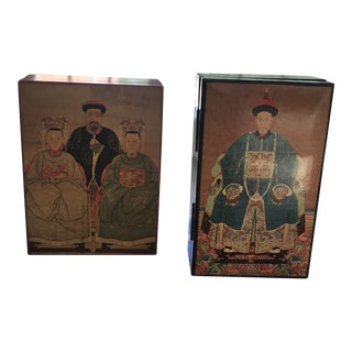 Mottahedeh Design Boxes - Set of 2 For Sale