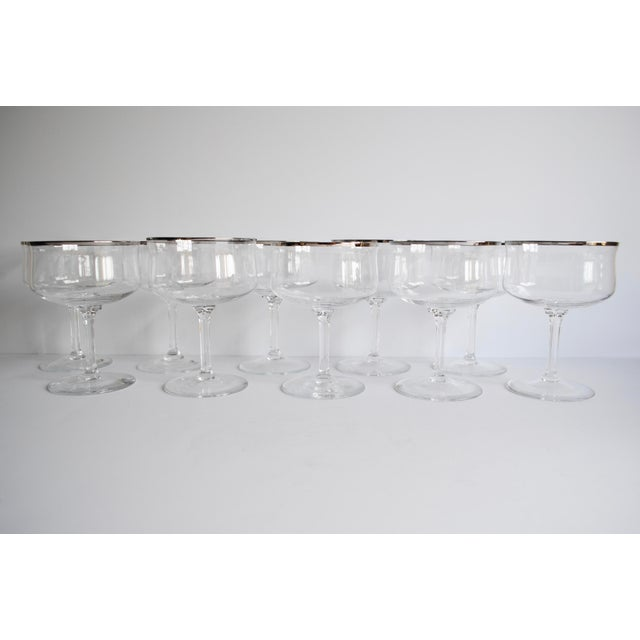 Silver Rim Champagne Coupes - Set of 10 - Image 4 of 4