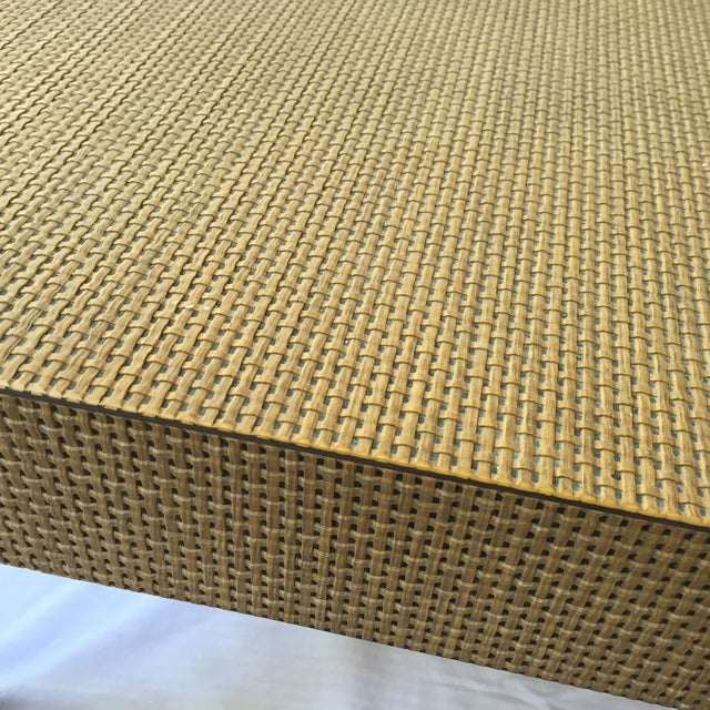 Woven Parsons Coffee Table For Sale - Image 5 of 7