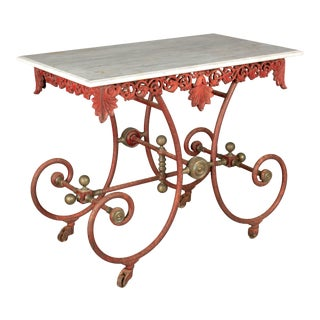 19th Century French Iron Pastry Table For Sale
