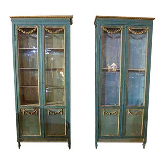 19th Century French Painted Cabinet-A Pair For Sale