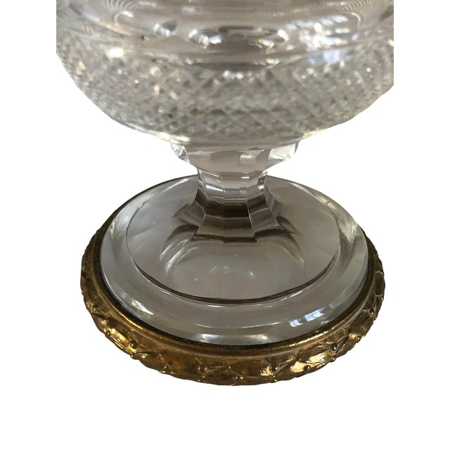 Miniature Urns Cut Crystal and Bronze - a Pair For Sale - Image 4 of 7