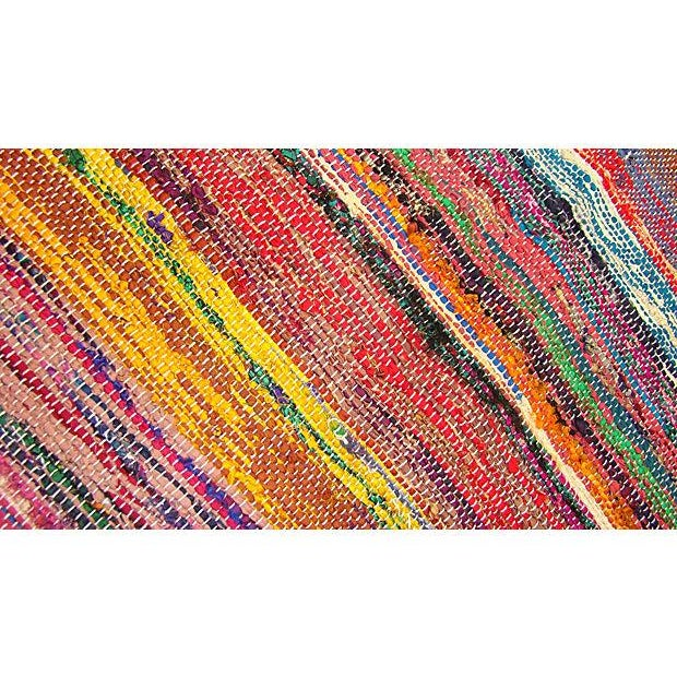 Boucherouite Striped Rug I - 8' X 2' - Image 3 of 3