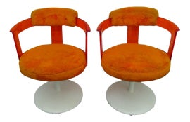 Image of Lucite Swivel Chairs