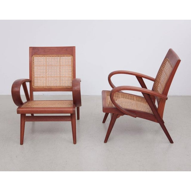 Danish Modern Pair of Danish Solid Teak Studio Lounge Chairs For Sale - Image 3 of 11