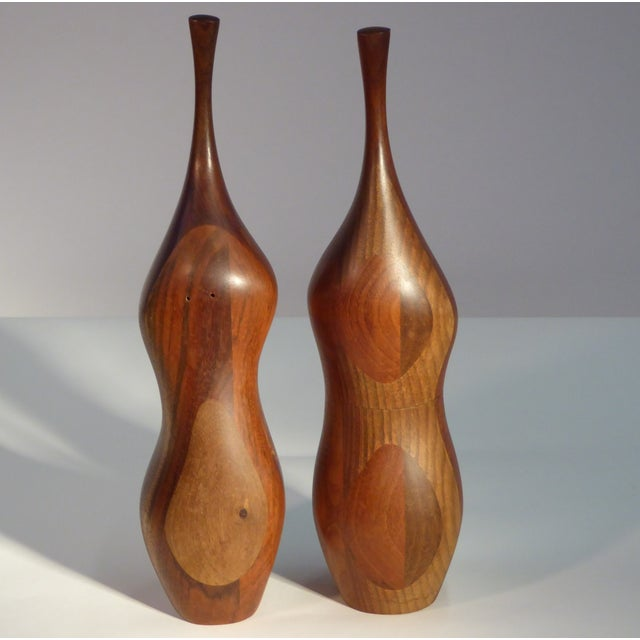 REDUCED FROM $2,250. An outstanding 20th century oversized pair of Daniel Loomis Valenza designed pepper grinder and salt...