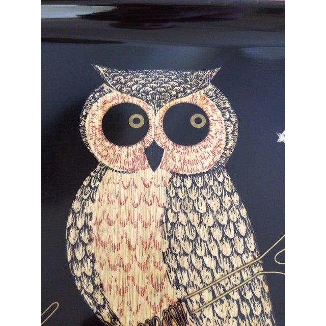 Mid-Century Owl Couroc Tray - Image 3 of 7