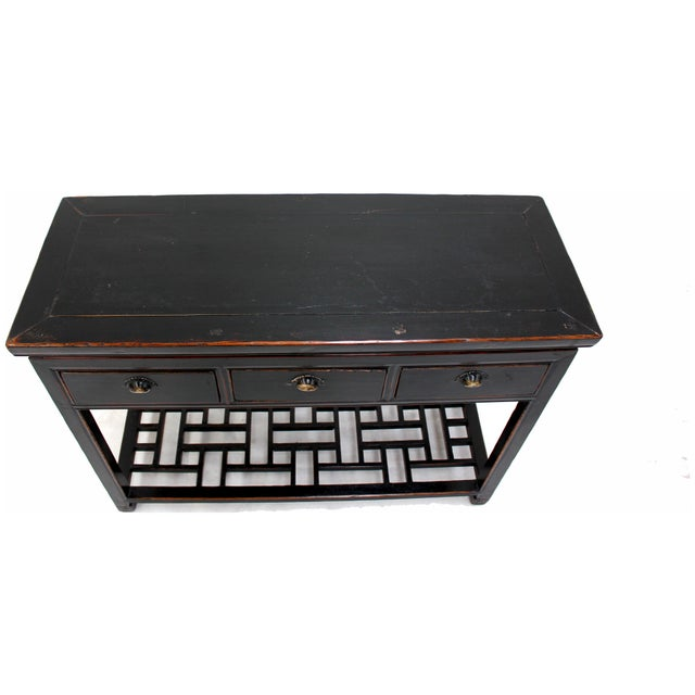 Antique Sarreid LTD Ming Style Wood Console Table - Image 3 of 3