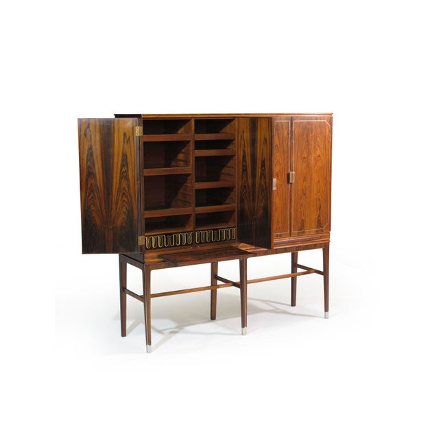 Gold Georg Kofoed Rosewood Cabinet with Eight-Karat White Gold Inlay For Sale - Image 7 of 10