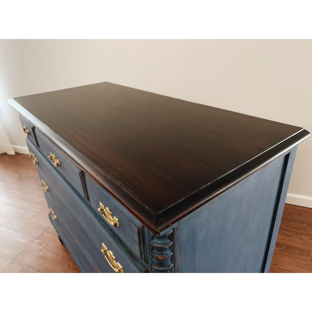 Wood 1960s Traditional Navy Dresser For Sale - Image 7 of 13