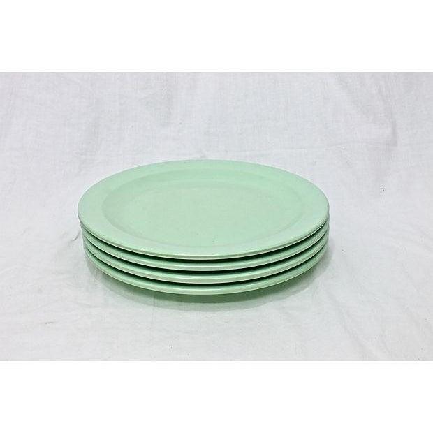 Green Vintage Boontonware Dinnerware - Set of 4 For Sale - Image 8 of 9