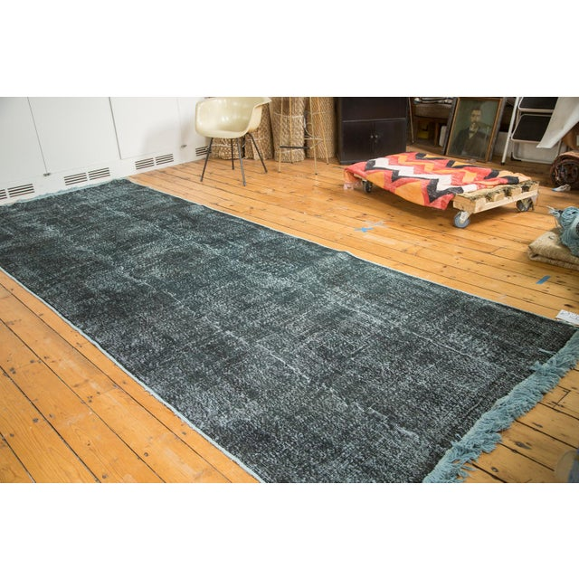 """Vintage Overdyed Distressed Runner - 5' X 13'3"""" - Image 2 of 10"""