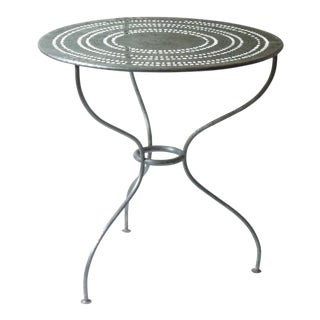 French Polished Steel Cafe Table