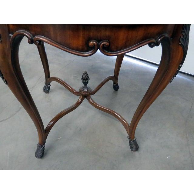 Hollywood Regency Maitland Smith Regency Style Dessert Table For Sale - Image 3 of 9